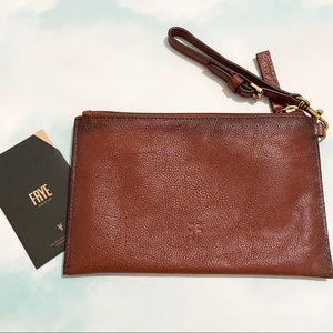 NWT! FRYE Textured Leather Wristlet